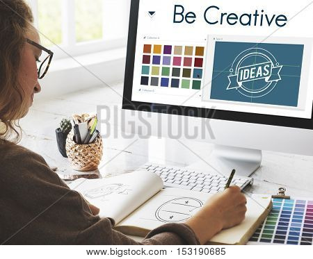 Be Creative Inspiration Design Logo Concept