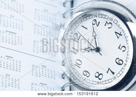 Watch on calendar diary page