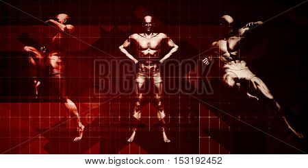 Self Defense and Martial Arts Training as a Course 3D Illustration Render