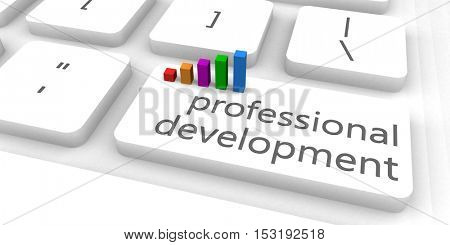 Professional Development as a Fast and Easy Website Concept 3D Illustration Render