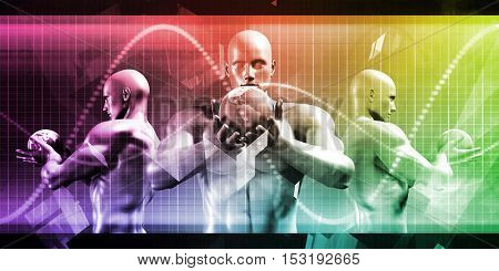 International Business and Trade Abstract Background Art 3D Illustration Render