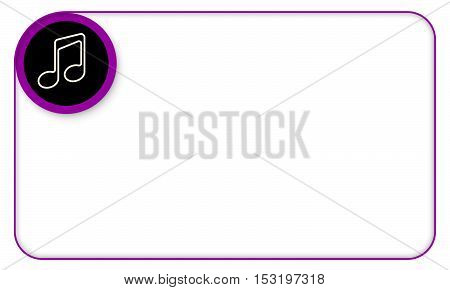 Purple frame for your text and music symbol
