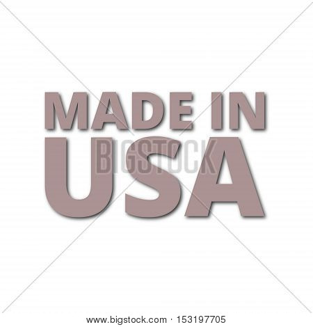 American (USA) Made text design on white background