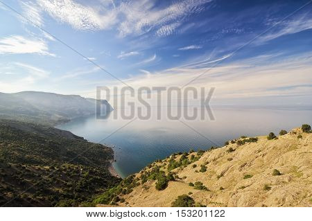 Beautiful mountain landscape on a sunny day. Composition of nature