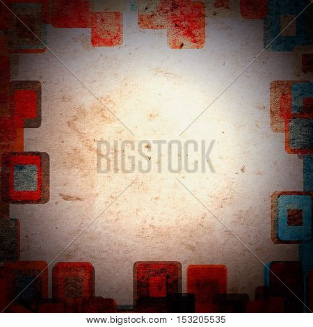 frame grunge squares on the wall, abstract background