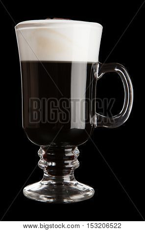 Glass of Irish coffee