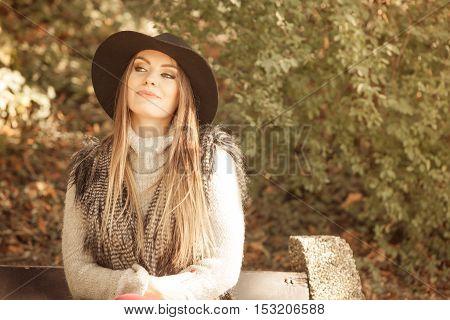 Portrait Of Beauty Woman In Hat