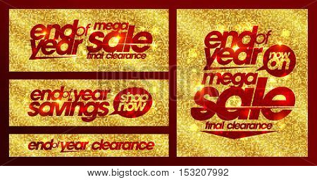 End of year sale chic golden banners set, final clearance, mega savings