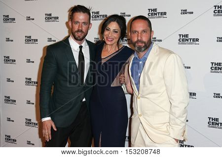 NEW YORK-APR 2: (L-R) Director of Operations for Ralph Lauren Christopher Peregrin, Stacy London and Alexis Bittar attend 2015 Center Dinner at Cipriani's on April 2, 2015 in New York City.