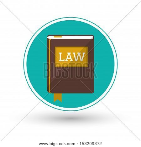 Book icon. Law justice legal and judgment theme. Colorful design. Vector illustration