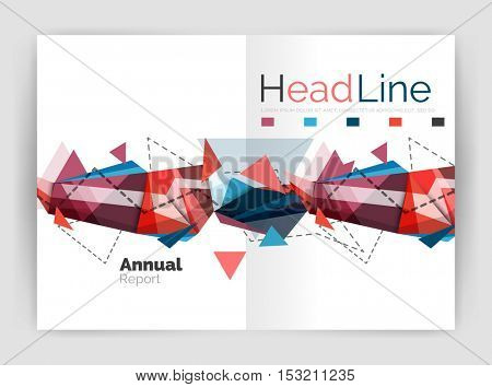 Business triangle design modern business annual report flyer. Vector illustration