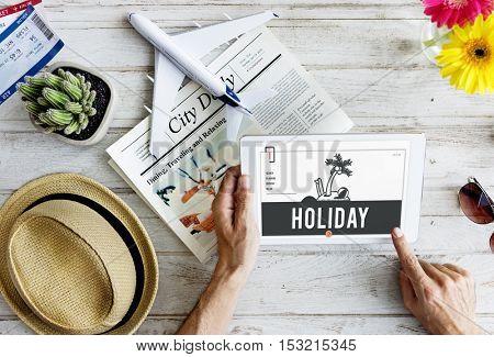 Holiday Vacation Island Graphic