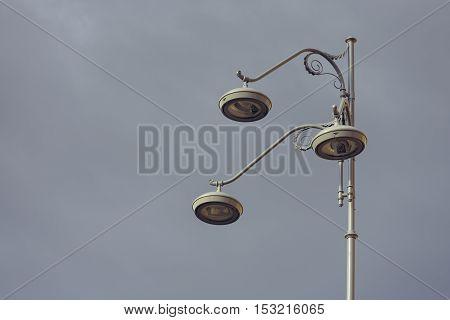 Retro Street Light Pole
