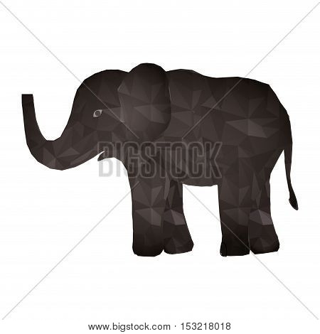 elephant wildlife animal with abstract design over white background. vector illustration