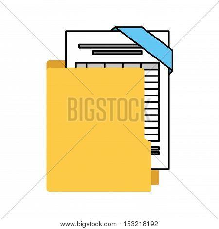 organizer file folder isolated icon vector illustration design