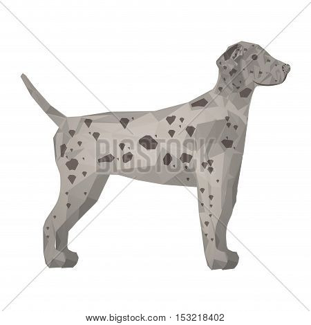 Dalmatian dog animal with abstract design over white background. vector illustration
