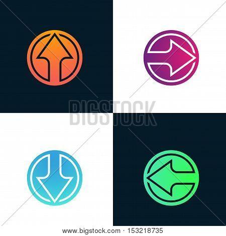 Arrow abstract logo company sign vector design