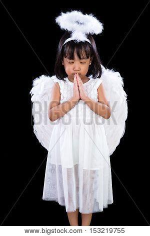 Asian Chinese Little Angel Praying