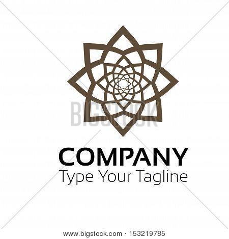 Flower logo design company sign icon vector