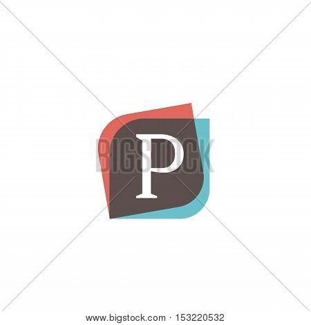 P letter sign retro company symbol vector design