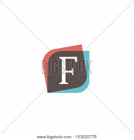F letter retro sign company symbol vector design