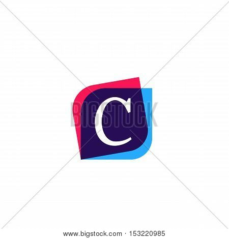 C letter sign company symbol vector design