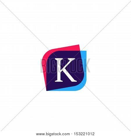 K letter sign company symbol vector design