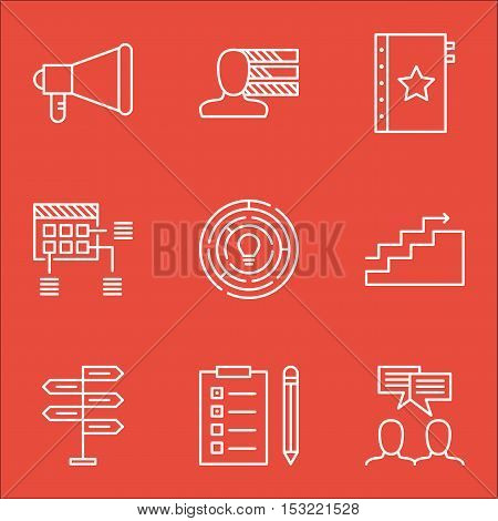 Set Of Project Management Icons On Opportunity, Reminder And Warranty Topics. Editable Vector Illust