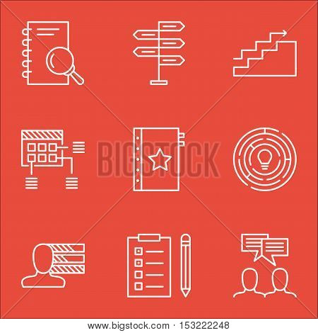 Set Of Project Management Icons On Innovation, Opportunity And Warranty Topics. Editable Vector Illu