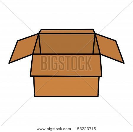 carton box packing isolated icon vector illustration design