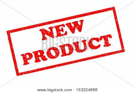 New product rubber stamp. Rubber stamp with text new product inside.