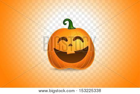 Smiling pumpkin. Happy Halloween