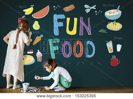 Kids Menu Food Recipes Cuisine Concept