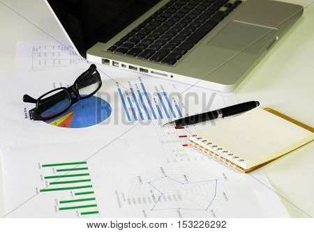 Document Financial Accounting On Office Accountant Desk