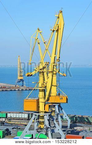 Port Cargo Crane And Metal