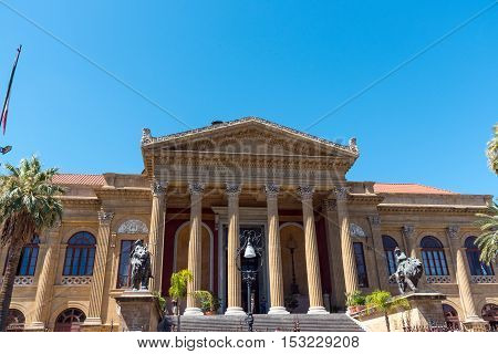 The beautiful Teatro Massimo in Palermo, Sicily