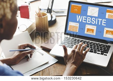 Web Template Website Design Concept