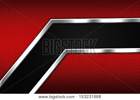 set 9. red and black chrome carbon fiber. metal background and texture. 3d illustration.