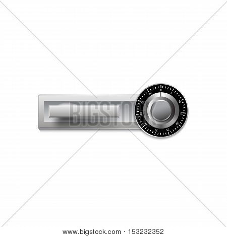Digital lock for safe or door on a white background. Vector illustration for your design