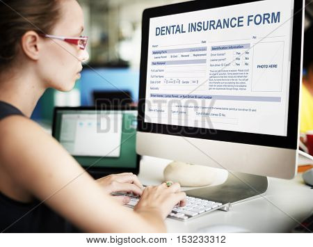 Dental Insurance Form Dentist Concept