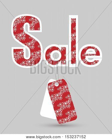 colorful vector sale sign with tags isolated over grey background. Elements for your design. Eps10