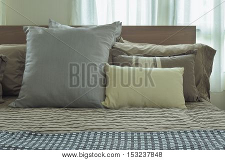 Pillows On Bed In Japanese Style  Bedding