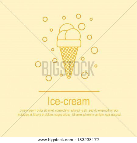 Hand draw lettering about ice-cream  in vector. Quote about ice cream with flavours. Best for cafe, bar, chalk board, print design, web, menu, advertising and social nets.