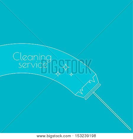 Vector icon brush for cleaning brooms. Linear icon. Thin line. The concept of home cleaning and cleanliness. The symbol of house cleaning.  outline icon. Brush for sweeping debris. cleaning service