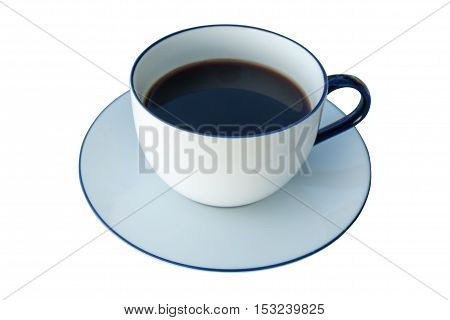 Coffee cup isolated on a white background.