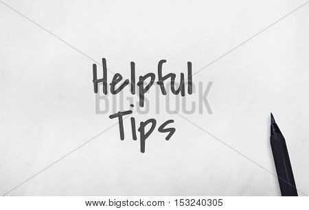 Helpful Tips Information Knowledge Concept