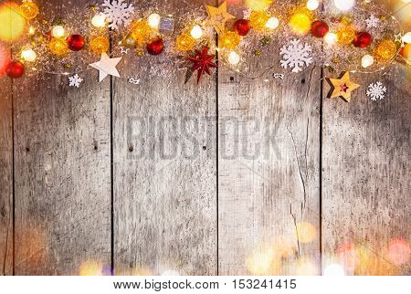 Abstract christmas background with shiny little lights.