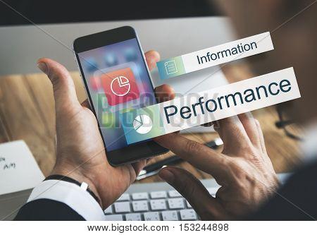Data Information Analytics Performance Concept