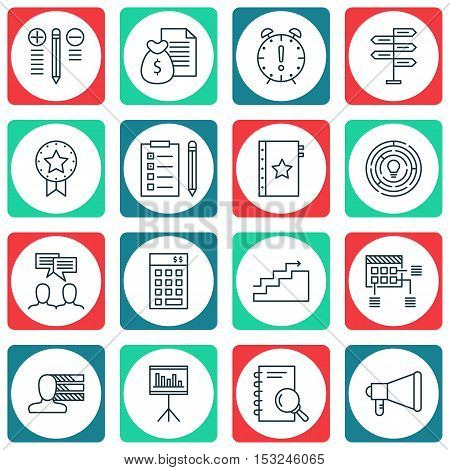 Set Of Project Management Icons On Decision Making, Opportunity And Warranty Topics. Editable Vector