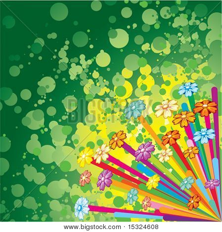 Vivid Flower Colorful stylish offbeat background